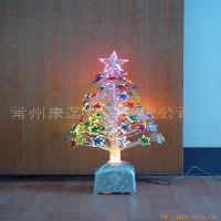 七彩五角星光纤树