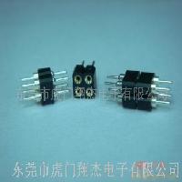 圓孔圓針4PIN公對母插座