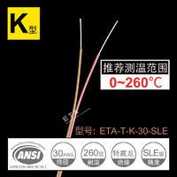熱電偶測溫線K型 ETA-T-K-30感溫線溫度傳感器