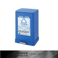 蓝色脚踏分类桶 GPX-229A S
