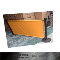 黄色广告布隔离栏杆座 LG-PF