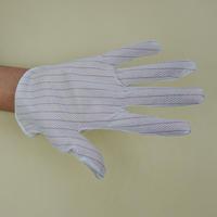 东莞批发双面防静电条纹点胶防滑手套