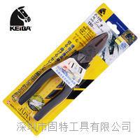 日本马牌KEIBA钢丝老虎钳P-106/P-107/P-108马头牌电工平嘴钳8寸 P-106/P-107/P-108
