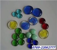 研磨玻璃珠 工艺玻璃珠 彩色半面玻璃珠
