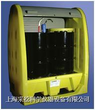 两桶式卷帘型盛漏柜 4062-YE-D ,带排污口
