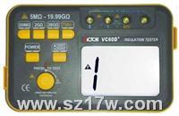 絕緣電阻測試儀VC60D+  VC60D+  說明書 參數 蘇州價格
