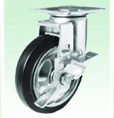 日本KANATSU静音TPNKE-125定向橡胶轮
