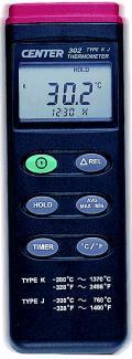 CENTER-302溫度計|K,J型熱電偶溫度表 CENTER-302