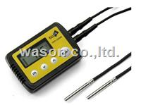 External dual/double probe high temperature data logger