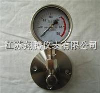 角型法兰隔膜压力表 YTP-60/100/150